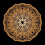 Guld- bakgrund i formen av en blomma Österlänningen mönstrar Royaltyfria Bilder