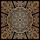 Guld- bakgrund i formen av en blomma dekorativ elementtappning orientaliskt Royaltyfria Bilder