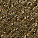 Guld- bakgrund med den blom- modellen Royaltyfria Bilder