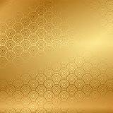 Guld- bakgrund med modellen stock illustrationer