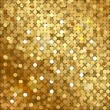 Guld- bakgrund med paljetter Royaltyfri Fotografi
