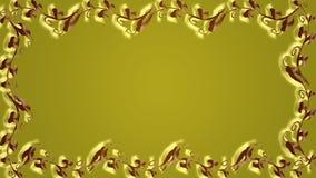 Guld- bakgrund med ramen Royaltyfri Bild