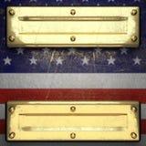 Guld- bakgrund som målas till USA-flaggan Royaltyfri Foto