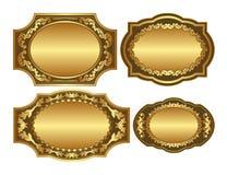 guld- bakgrunder Royaltyfria Foton