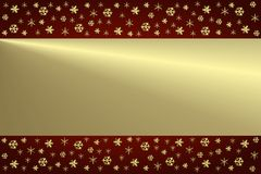 guld- bakgrundsjul Royaltyfri Fotografi