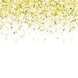 guld- bakgrundskonfettiar Royaltyfria Bilder