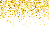 guld- bakgrundskonfettiar Royaltyfri Bild