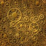 Guld- bakgrundsmodell för kugghjul Royaltyfria Bilder