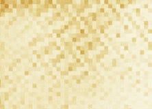 Guld- bakgrundsmosaiktextur Beståndsdel av den härliga designen Royaltyfria Bilder