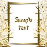 Guld- bamburam Fotografering för Bildbyråer