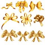 Guld- band royaltyfri illustrationer