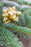Guld- band för jul Arkivbilder