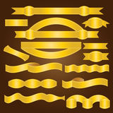Guld- band - illustration Arkivfoto
