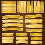 Guld- band och banervektor Royaltyfria Bilder