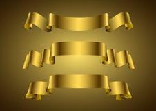 guld- baner Royaltyfri Foto