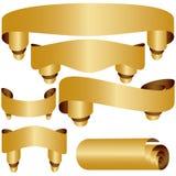 guld- baner Arkivfoton