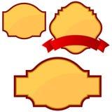 Guld- baner royaltyfri illustrationer