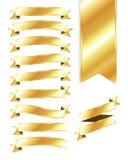 Guld- baner och band Vektor Illustrationer