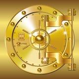 Guld- bankdörrar Royaltyfri Foto