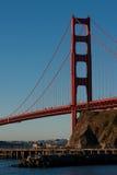 guld- bara soluppgång för broport Royaltyfri Bild
