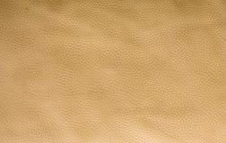 Guld-beige lädertextur Royaltyfria Bilder