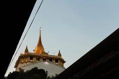 Guld- berg, Bangkok, Thailand Royaltyfri Fotografi
