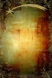 Guld- Betlehems stjärnajullodlinje stock illustrationer