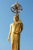 Guld- bild buddha i Thailand Royaltyfri Foto