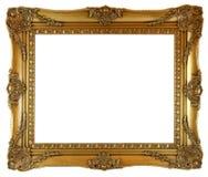 guld- bild för ram Arkivbild