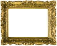guld- bild för utklippram Fotografering för Bildbyråer