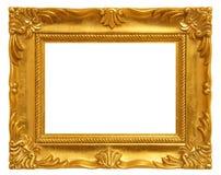guld- bild för ram Arkivbilder