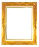 Guld- bildram Fotografering för Bildbyråer