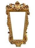 Guld- bildram eller spegelram Royaltyfria Foton