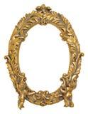 Guld- bildram för kerub Arkivbild