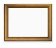 Guld- bildram för tappning Arkivfoto