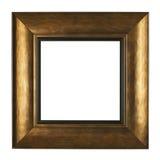 Guld- bildram som isoleras på vit bakgrund Royaltyfri Bild