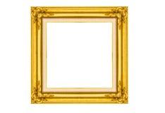 guld- bildträ för ram Royaltyfria Foton