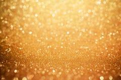 Guld- blänka bokehbakgrund Blank feriebakgrund royaltyfri fotografi