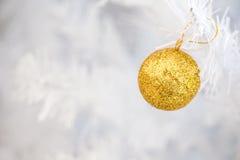 Guld- blänka bollen Royaltyfri Fotografi
