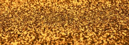 Guld- blänka julljus Festligt abstrakt begrepp blänker bakgrund Royaltyfri Fotografi