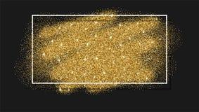 Guld blänker bakgrund Abstrakt gnistrande, paljetttextur stock illustrationer