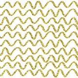 Guld blänker brusandemodellen dekorativt seamless för bakgrund Skinande guld- abstrakt textur Tegelplattadottetdbakgrund Royaltyfri Fotografi