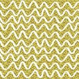 Guld blänker brusandemodellen dekorativt seamless för bakgrund Skinande guld- abstrakt textur Tegelplattadottetdbakgrund Royaltyfri Bild