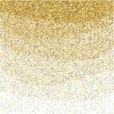 Guld blänker brusandemodellen Dekorativt skimra bakgrund Skinande glamabstrakt begrepptextur Guld- konfettibakgrund för gnistrand Royaltyfri Foto