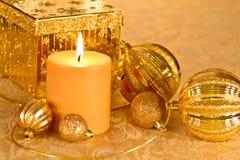 Guld blänker jul Royaltyfria Bilder