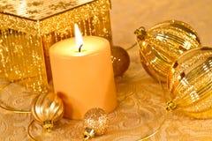 Guld blänker jul Royaltyfria Foton