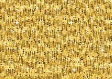 Guld blänker lyxig textur seamless modell vektor för bild för designelementillustration Arkivfoto