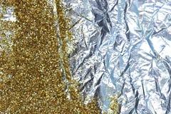 Guld blänker och omkullkastar Royaltyfri Foto