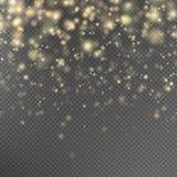 Guld blänker partikeleffekt 10 eps Arkivbilder