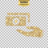 Guld blänker symbolen Arkivfoton